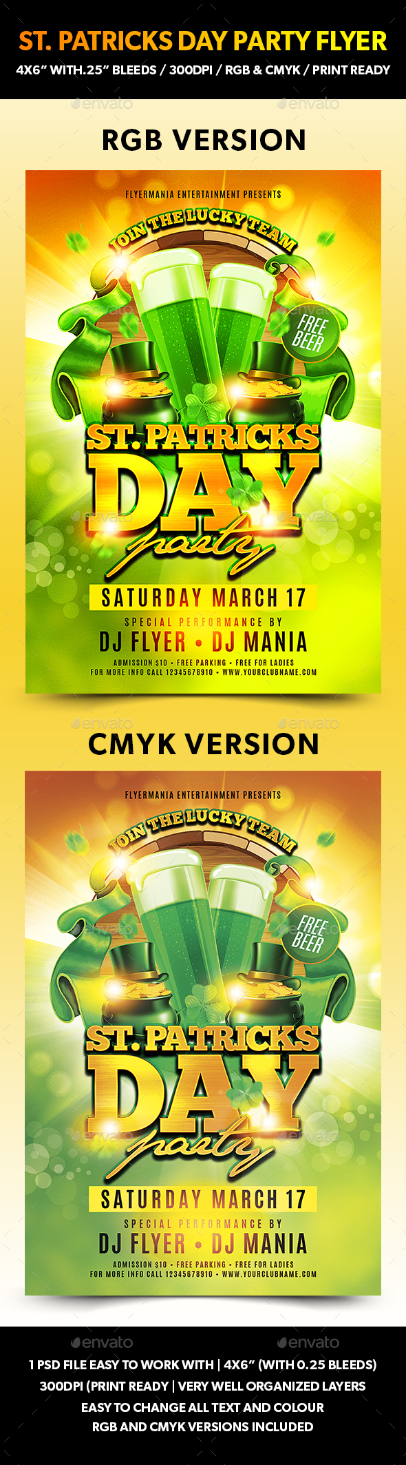 St. Patricks Day Party Flyer - Flyers Print Templates