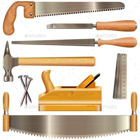 Vector Carpentry Tools - Industries Business
