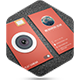 Flat Camera Business Card - GraphicRiver Item for Sale