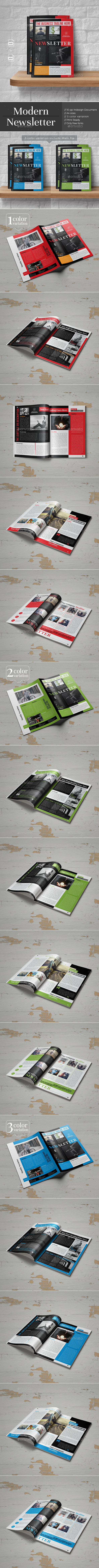 Modern Newsletter Template - Newsletters Print Templates