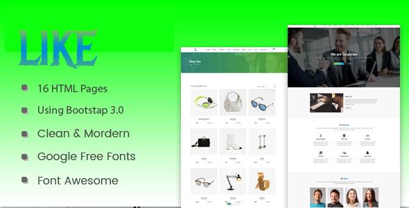 Like - HTML5 Corporate  Responsive Template - Business Corporate