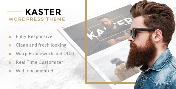Kaster — Multipurpose Agency/Personal Portfolio & Modern Blog WP Theme