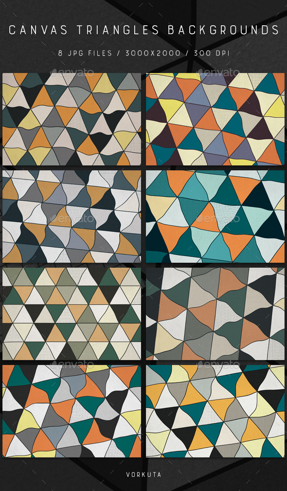 Canvas Triangles | Backgrounds - Backgrounds Graphics