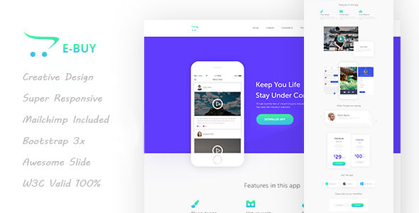 E-Buy HTML5 Apps Landing Template
