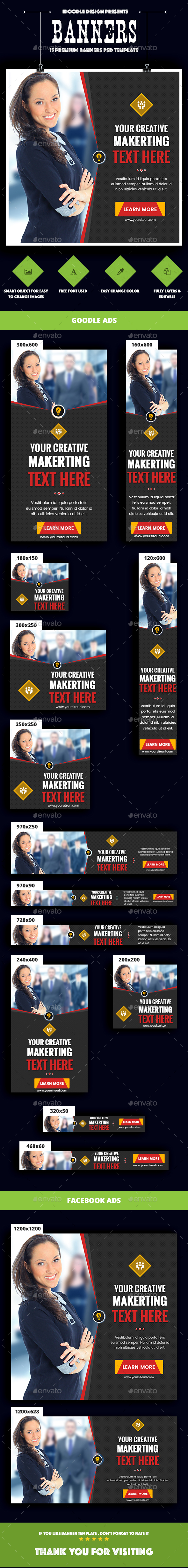 Multipurpose Banners Ads - Banners & Ads Web Elements
