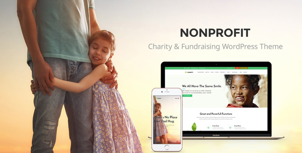 Nonprofit – NGO, Nonprofit Charity organization WordPress Theme
