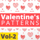 Valentine Hearts Animated Patterns Vol-2 - VideoHive Item for Sale