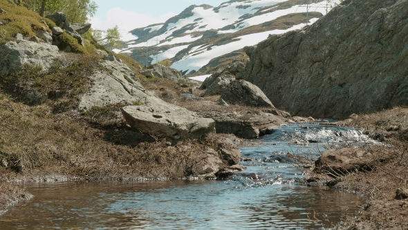River in the Norwegian Mountains
