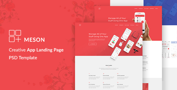 Meson – App Landing Page
