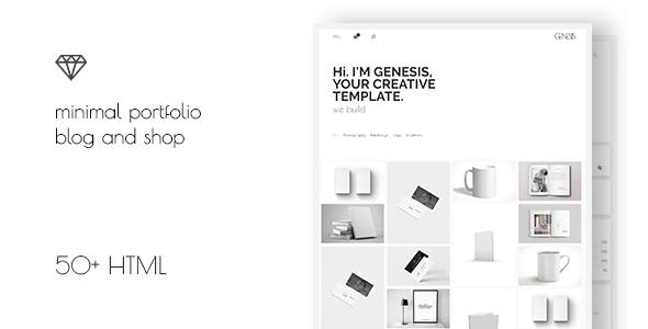 Genesis – Minimal Portfolio Blog Template