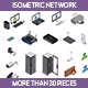 Isometric Network - GraphicRiver Item for Sale