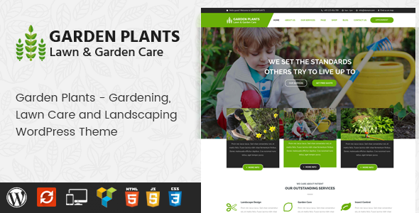 Garden Plants - Gardening, Lawn Care and Landscaping WordPress Theme - Business Corporate