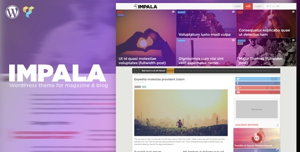 Impala - Colorful WordPress theme for Magazine and Blog - Blog / Magazine WordPress