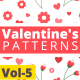 Valentine Hearts Animated Patterns Vol-5 - VideoHive Item for Sale