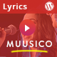 Muusico - Song Lyrics WordPress Theme - ThemeForest Item for Sale