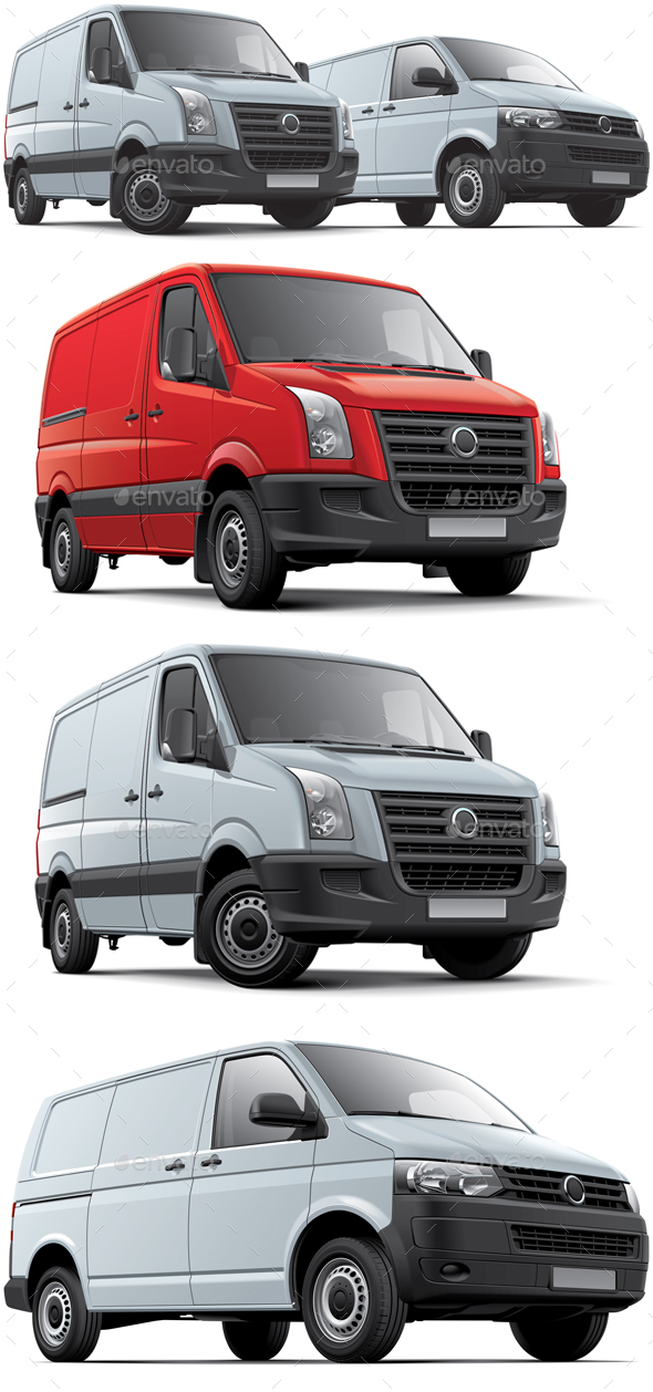Two Panel Vans - Man-made Objects Objects