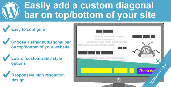 WeePie Diagonal Notification Bar Plugin for WordPress - CodeCanyon Item for Sale