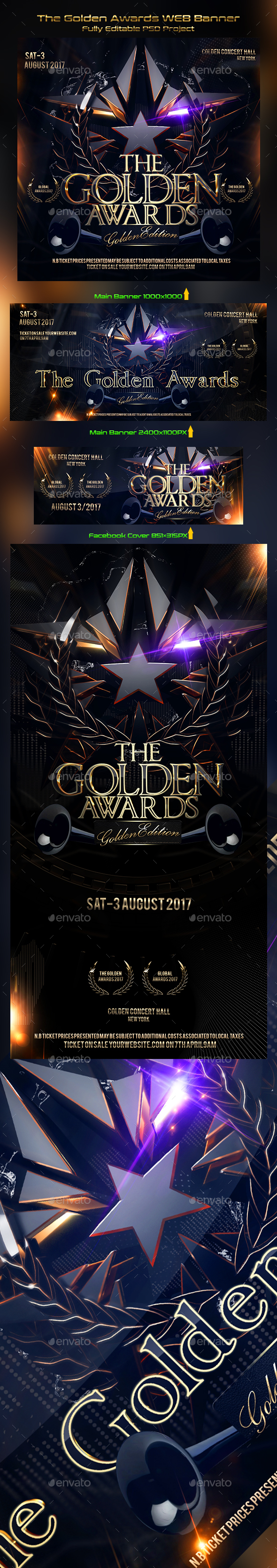 The Golden Awards WEB Banner - Miscellaneous Web Elements