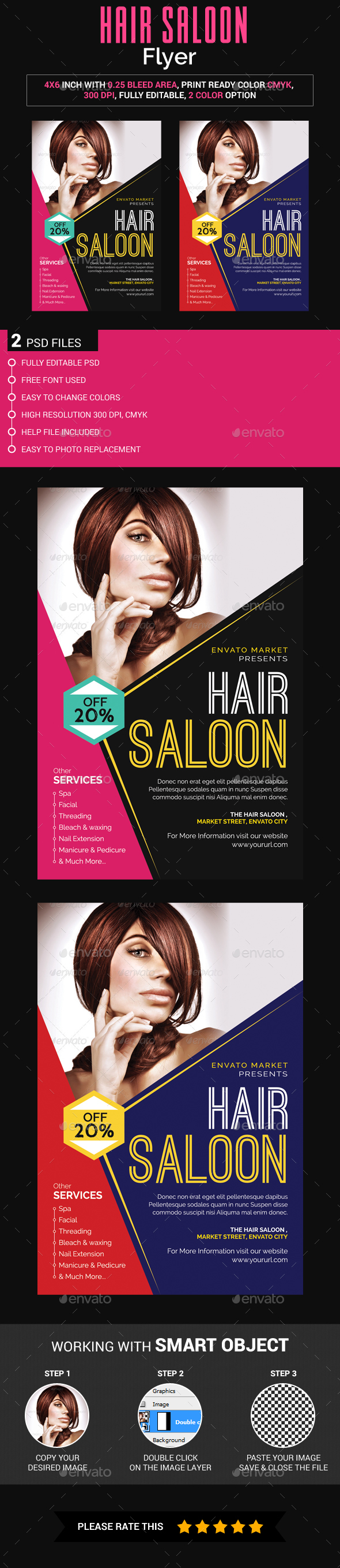 Hair Saloon Flyer - Miscellaneous Events