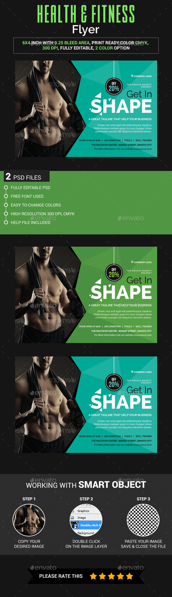 Health & Fitness Flyer - Sports Events