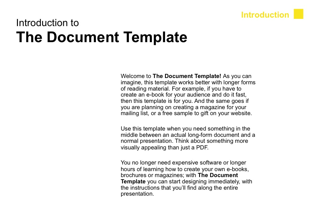 The Document Template by SlideStudio_Co | GraphicRiver