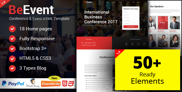 BeEvent - Conference & Event HTML Template
