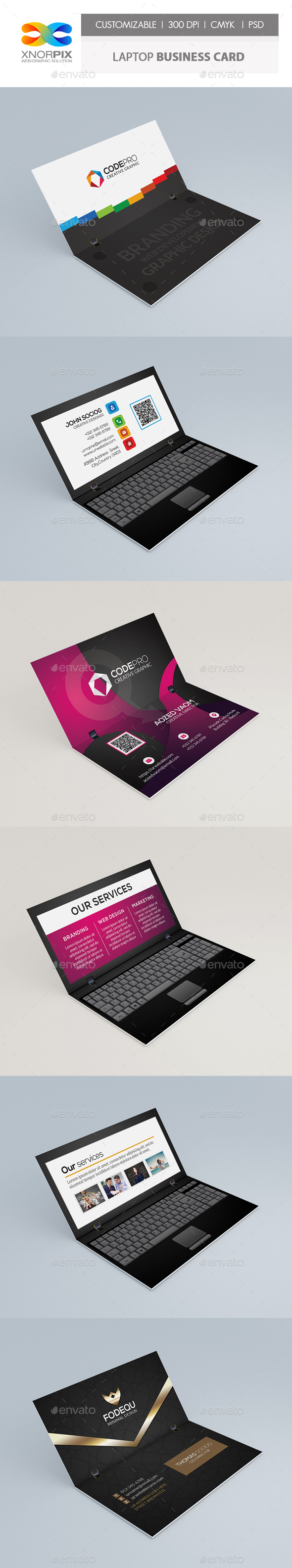 Laptop Business Card - Real Objects Business Cards