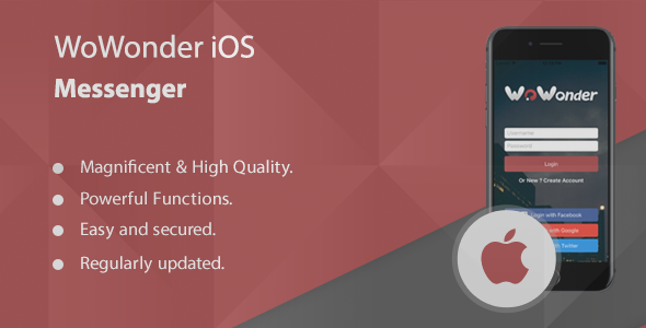 WoWonder IOS Messenger - Mobile Application for WoWonder - CodeCanyon Item for Sale