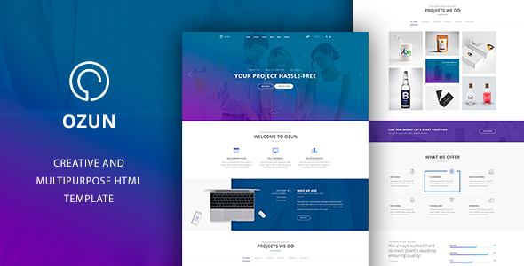 OZUN - Multipurpose HTML Template - Business Corporate