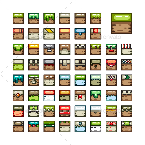 2D Tilesets for Creating Video Games - Tilesets Game Assets