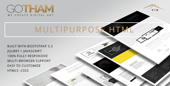 GoTham – Multipurpose HTML5 Responsive Parallax Template