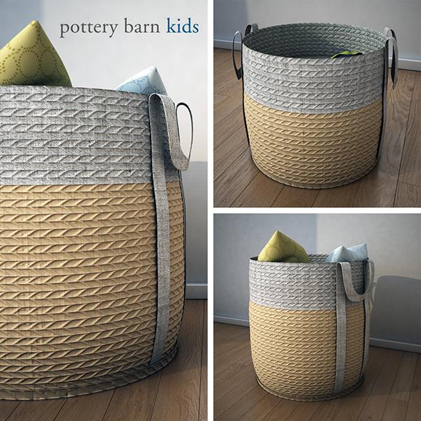 PoterryBarn-Basket - 3DOcean Item for Sale
