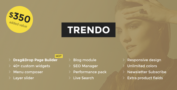 Trendo – Minimalistic Fashion Store OpenCart Theme