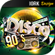 Disco 90`s party flyer and poster