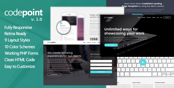 CodePoint – Premium Multi-Purpose Landing Page