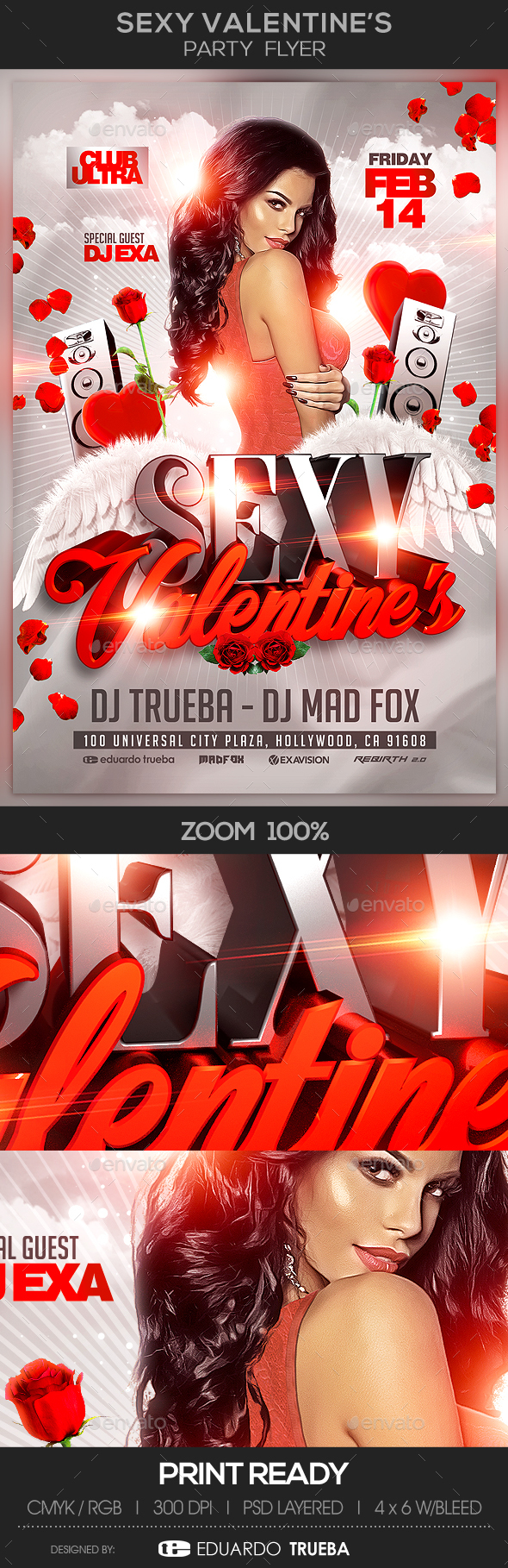 Sexy Valentine's Party Flyer - Events Flyers