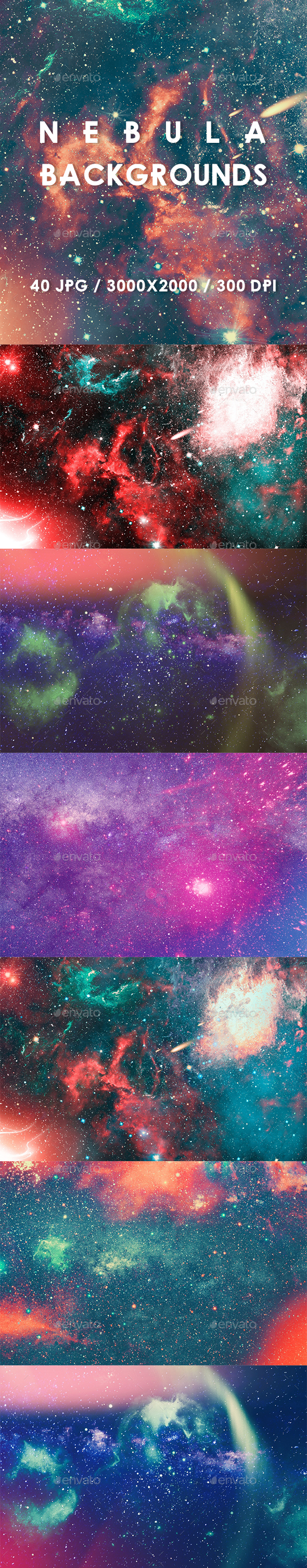 40 Nebula Backgrounds - Abstract Backgrounds