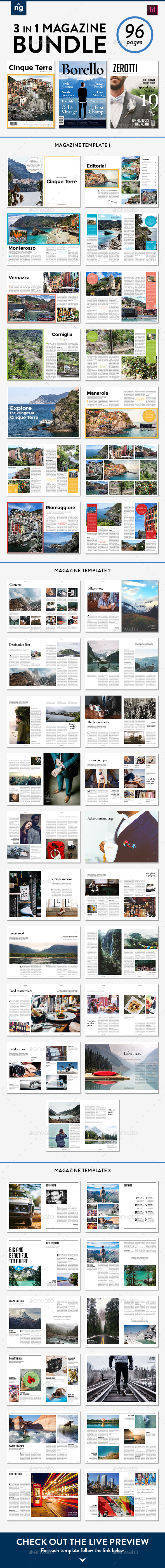Magazine Template Bundle, Vol. 3 - Magazines Print Templates