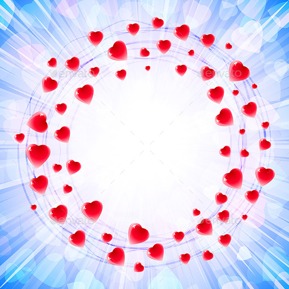 Heart Love Valenitines Background Frame - Valentines Seasons/Holidays