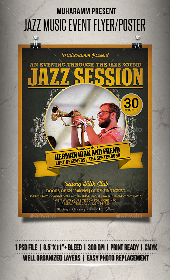 Jazz Music Event Flyer / Poster - Events Flyers
