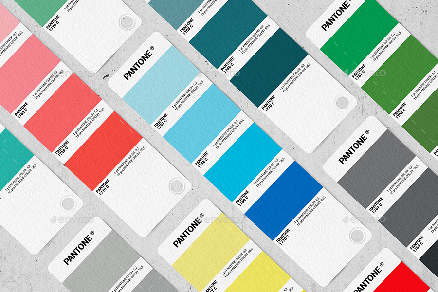 Pantone Color Cards MockUp By Makistse  Graphicriver