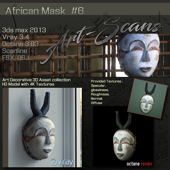 Art Scans African Mask #6 - 3DOcean Item for Sale