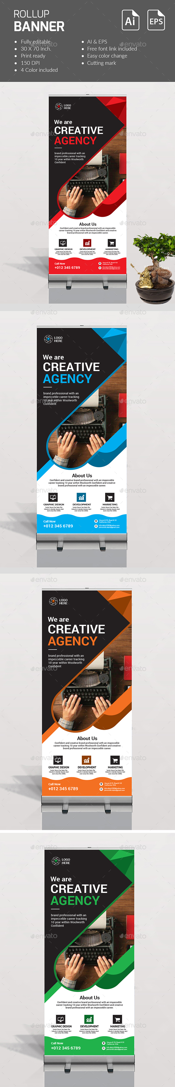 Roll up Banner - Print Templates
