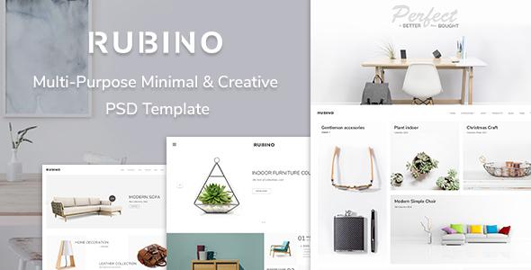 Rubino – Minimal & Creative PSD Template