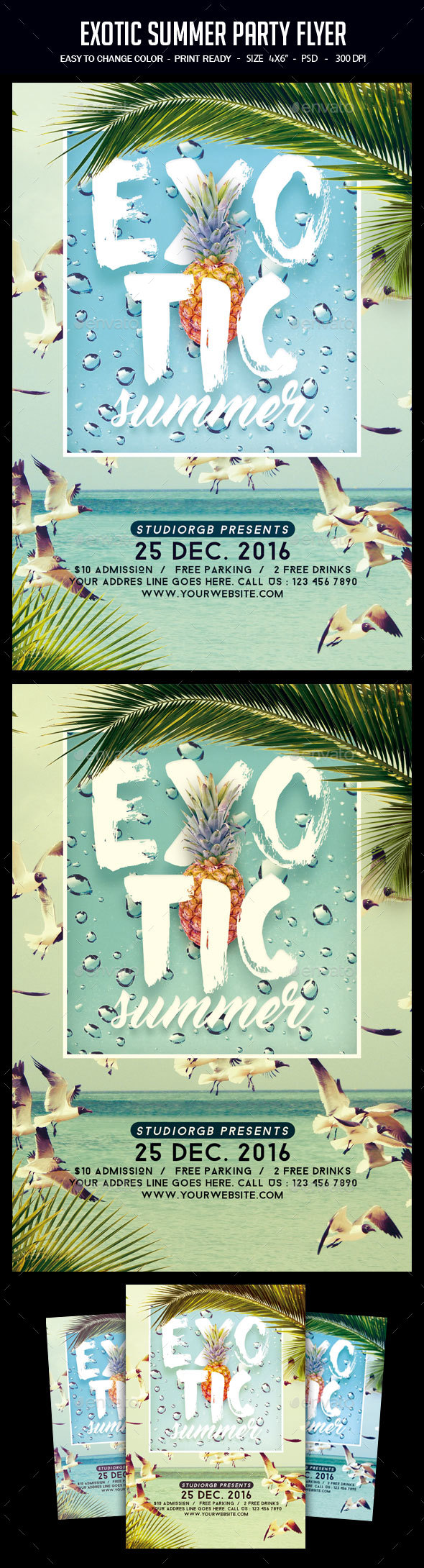 Exotic Summer Party Flyer - Clubs & Parties Events