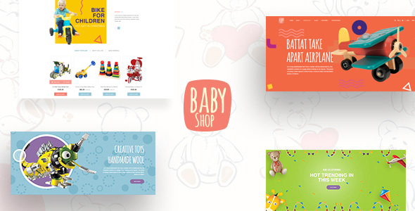 Babyshop – Beautiful PSD Template for Baby Stores