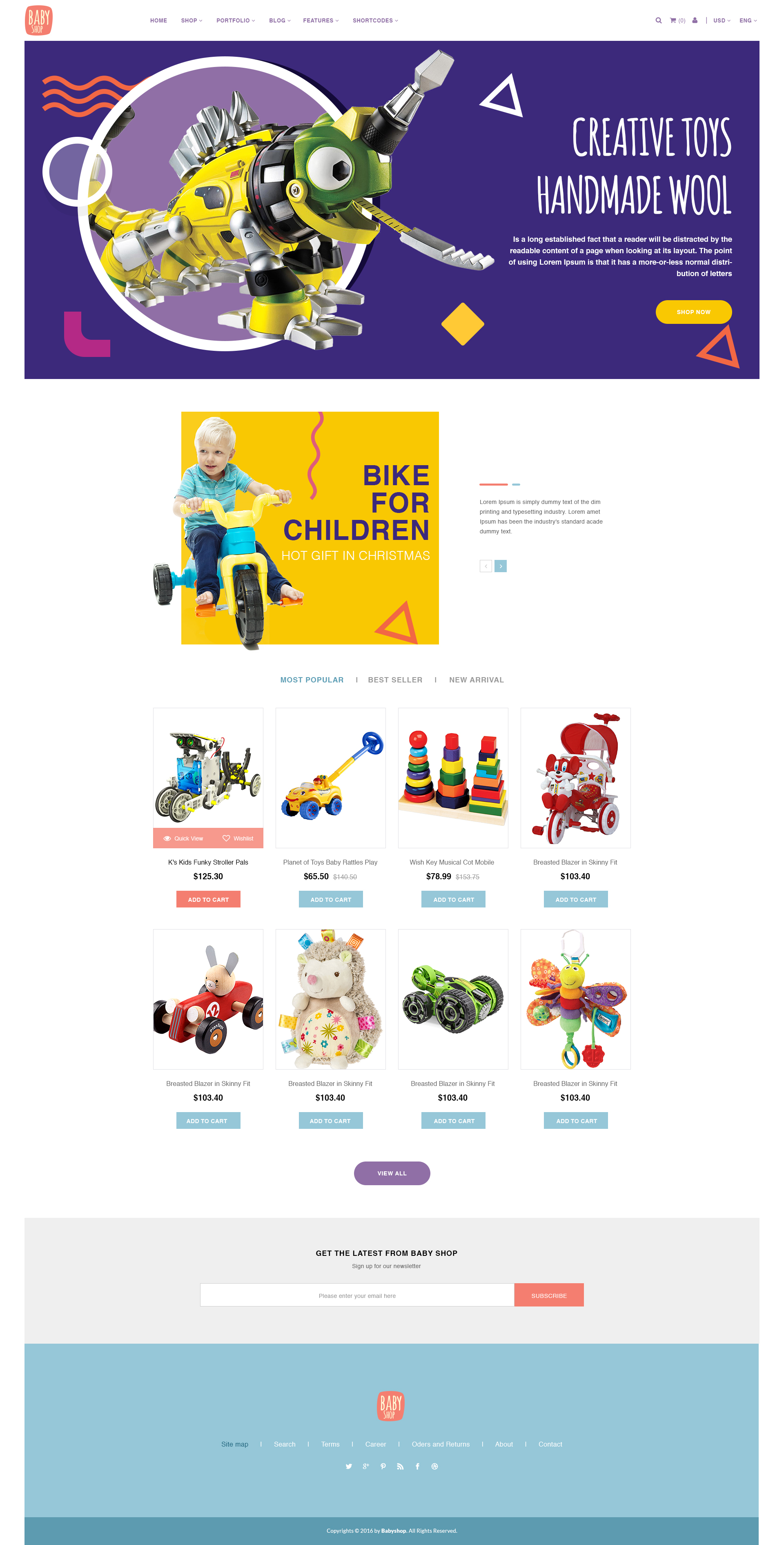Babyshop - Beautiful PSD Template for Baby Stores by digipieces ...