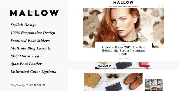 Mallow -  Lifestyle Blog & Magazine WordPress Theme