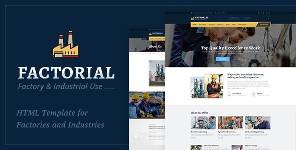 Factorial – Industry And Factory HTML Template