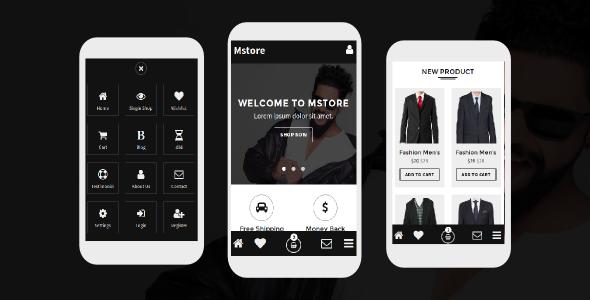 Mstore – Online Shop Mobile Template